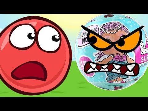 Красный Шар против шариков ЛОЛ, мультик игра, Детский летсплей #5