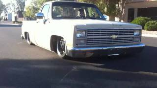 Air Bagged 1985 Chevy C10 Truck dragging on the body - Built by WCD Fabrication