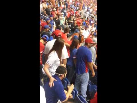 Fight at Texas Rangers game SaTx