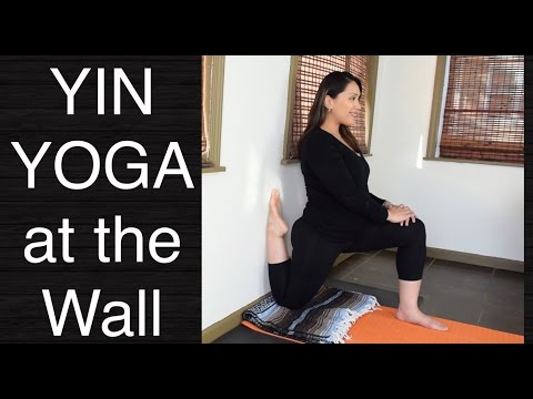 Yin Yoga - Deep Stretch at the Wall (40 Minutes)