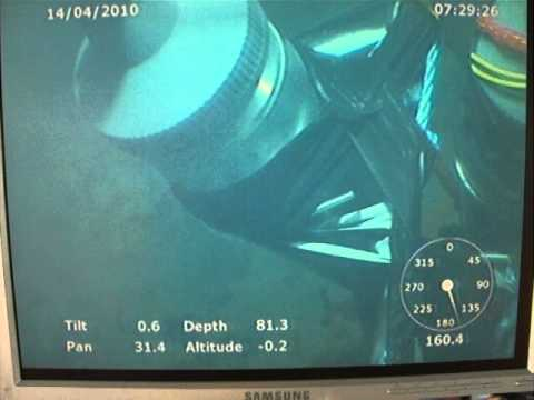 Setting charges on WW2 German Sea Mine in the Baltic Sea