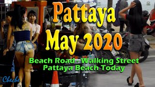 Pattaya Beach Road 2020 | Pattaya Walking Street May 2020 | Pattaya daytime tour | Pattaya 2020
