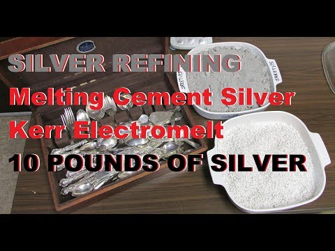 Silver Refining 10 LBS Melted Into Shot