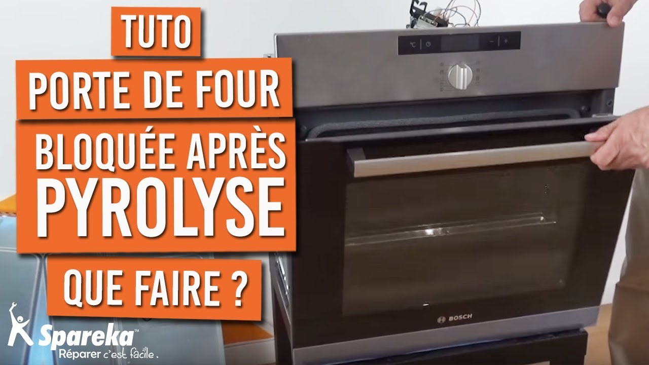 porte bloqu e apr s une pyrolyse four youtube. Black Bedroom Furniture Sets. Home Design Ideas