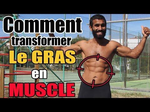 COMMENT TRANSFORMER LE GRAS EN MUSCLE ?  [ Exercices En Fin De Vidéo ] #gras #muscle
