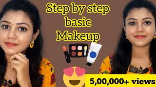 Simple basic glow makeup for beginners | Step by step makeup tutorial with tips for beginners