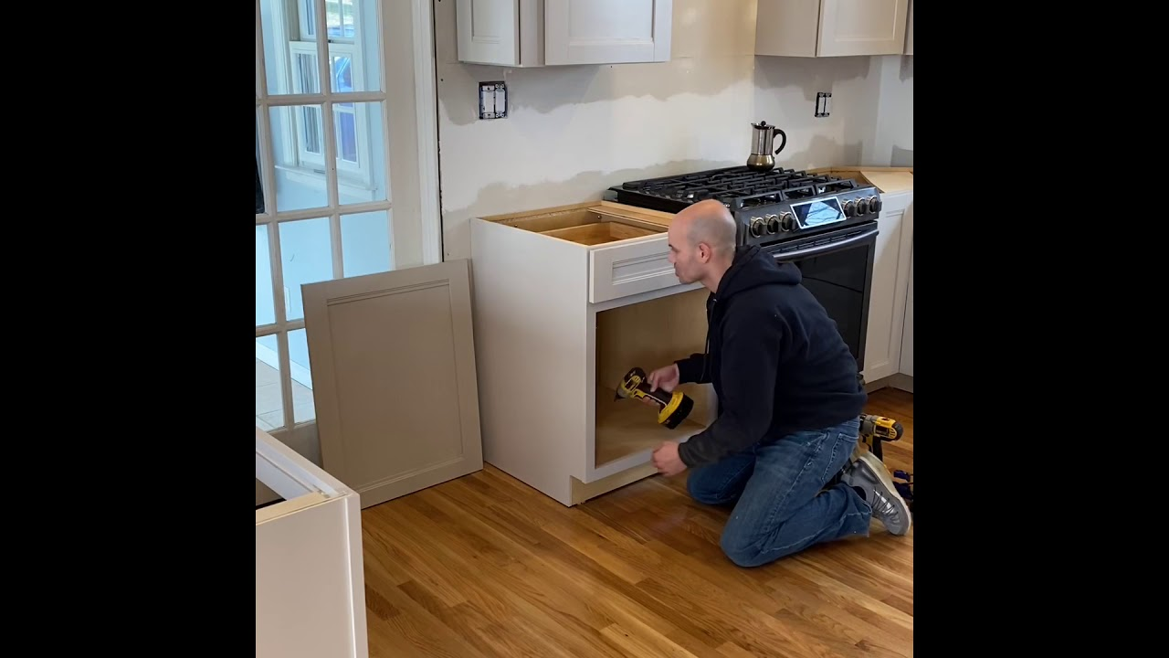 Installing Cabinet Decorative End Panel Youtube