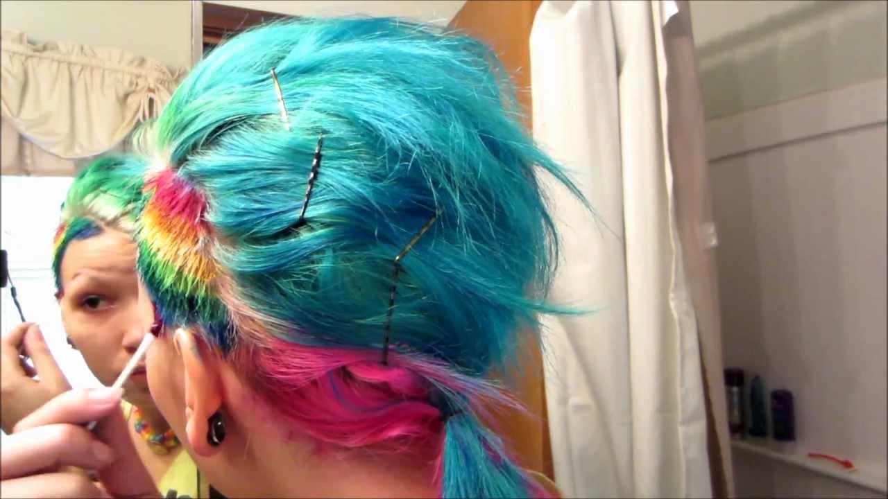 "dye hair rainbow ""side"