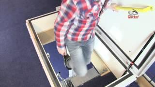 Gorter فتحة سقف - فتحة سقف مع مقص من الدرج