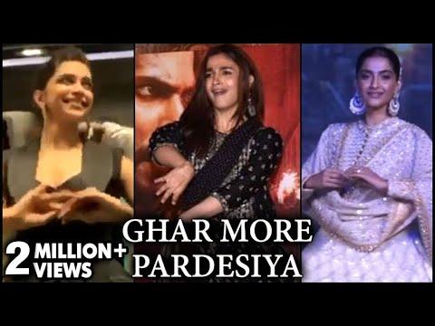 Deepika Padukone, Alia Bhatt, Sonam Kapoor AMAZING DANCE On Ghar More Pardesiya   KALANK