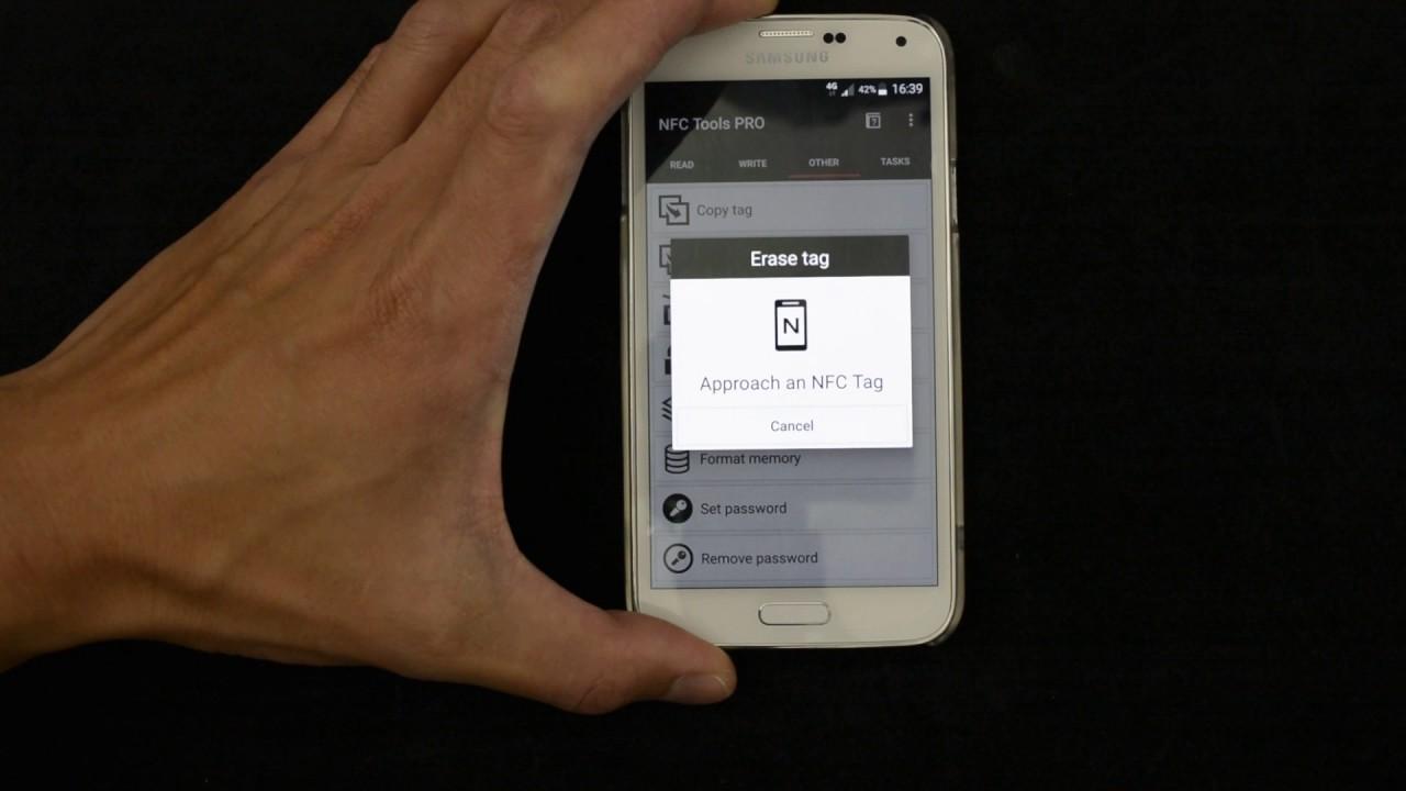 Erasing An NFC Tag Memory