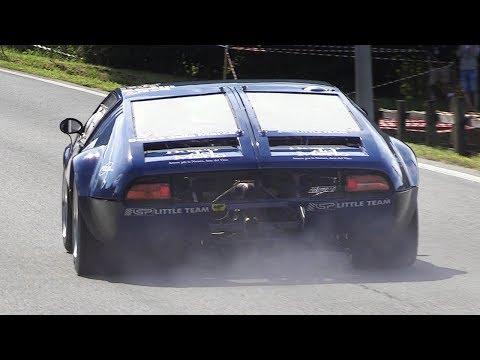 De Tomaso Mangusta Accelerations, Fly Bys & Sounds On Hillclimb!
