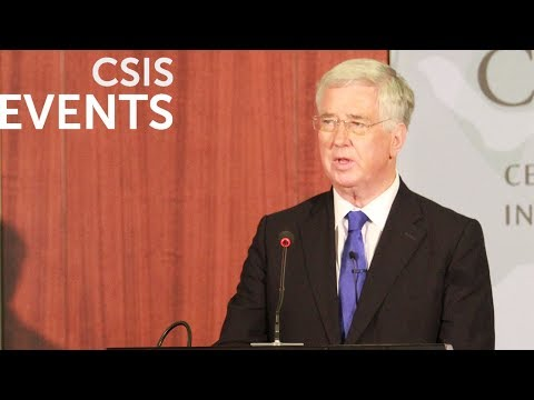 The Rt Hon Sir Michael Fallon MP, Secretary of State for Defense of the United Kingdom