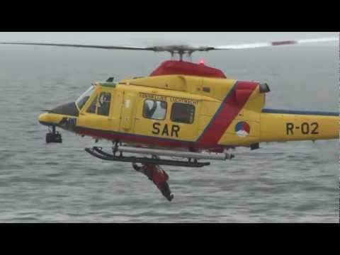 SAR (Search and Rescue) Katwijk 2012 with Agusta Bell 412