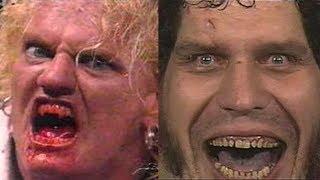 أكثر خمسة مصارعين مخيفين فى تاريخ المصارعة wwe ....!! مصارع يأكل الدود