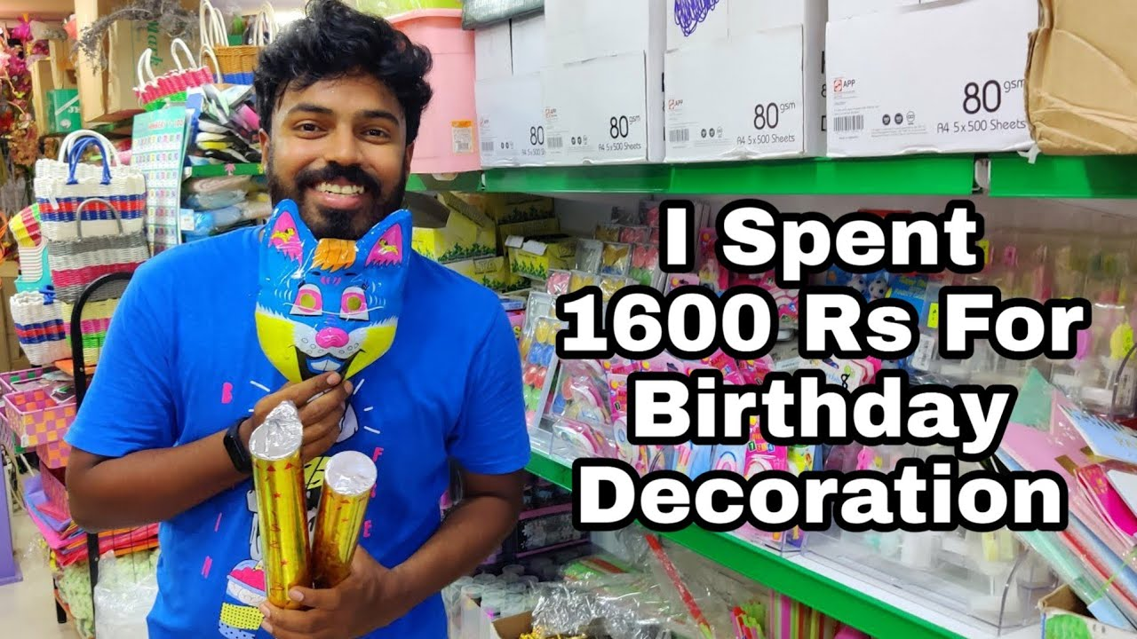 LED Balloons🎈 Candles + All Birthday Decoration Kit In One Place - TNS Stationaries Tirupur