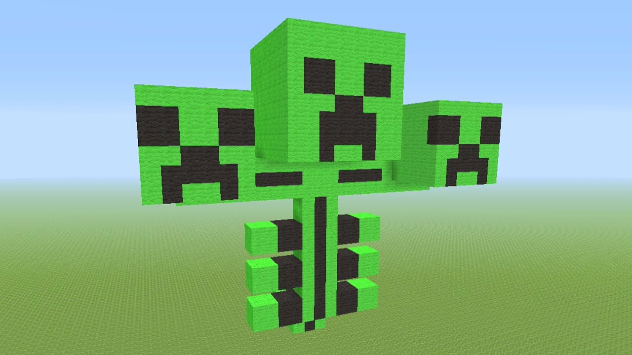 Minecraft tutorial how to build a creeper wither boss youtube voltagebd Gallery