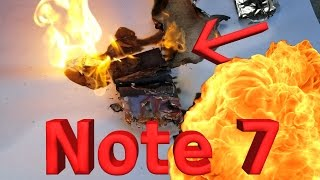 Note 7 Battery Explosion!! CAUGHT LIVE ON CAMERA!! thumbnail