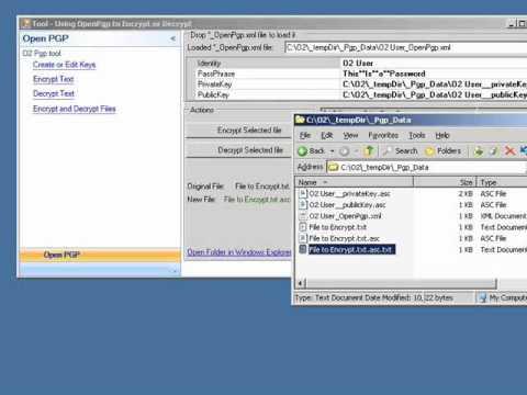 O2 Platform - Tool - Using OpenPgp to Encrypt or Decrypt.h2.avi