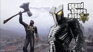 GTA 5 - THOR INFINITY WAR VS THE DESTROYER (GTA 5 PC MODS NVR)