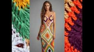 Летнее платье крючком summer crochet dress Вяжем с Людмилой Тен