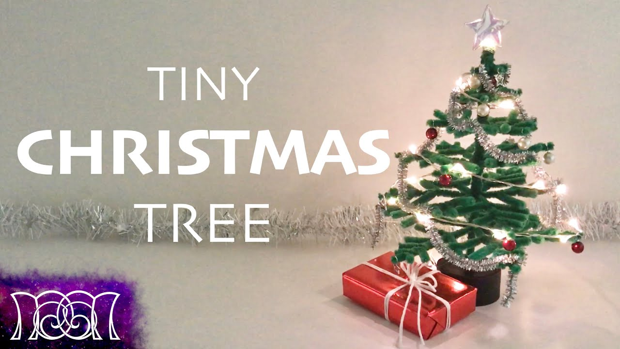 Tiny christmas tree ornaments - Tiny Christmas Tree Pipe Cleaner Diy