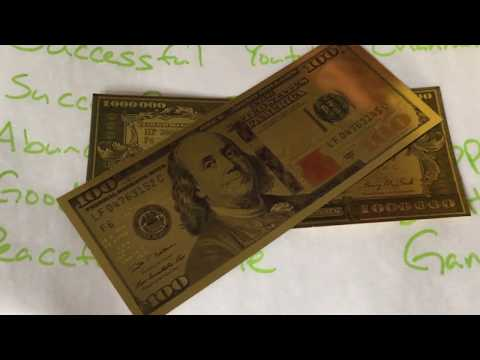 $1,000,000 Santa Muerte Lucky Golden Spiritual Money Banknote Currency For  Good Luck And Economic Protection