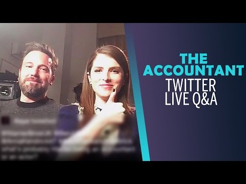 Anna Kendrick & Ben Affleck on Working with Justin Timberlake | THE ACCOUNTANT Twitter Live Q&A