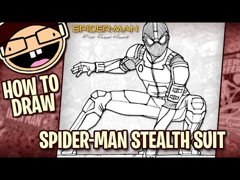 How To Draw SPIDER-MAN STEALTH SUIT (Spider-Man Far From Home) | Narrated Easy Step-by-Step Tutorial