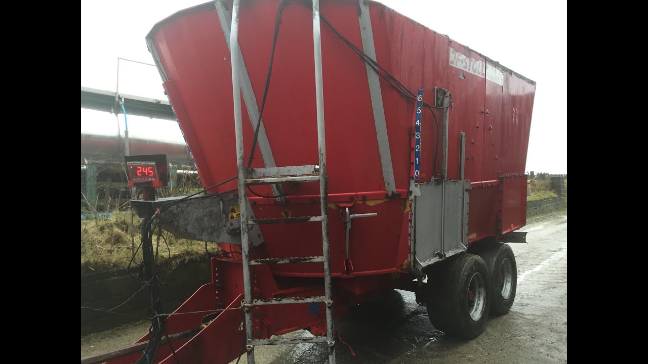 JF Stoll Feeder 22m second hand tub mixer for sale UK - YouTube