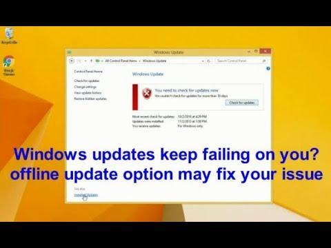 Windows Offline Update Tutorial - Windows 7 / 8 / 10 / 2008 / 2012 /2016