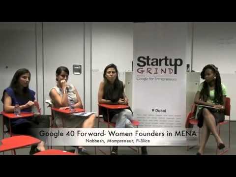 Loulou, Genny, Mona (Nabbesh, Pi Slice,Mompreneurs) at Startup Grind Dubai