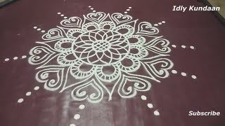 Latest Freehand Rangoli without Dots | Creative Kolam Design in Simple Method| Easy Muggulu Rangoli