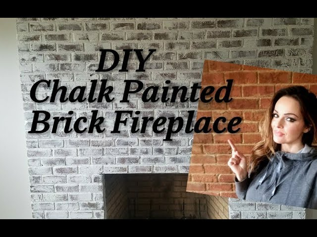 Diy Chalk Painted Brick Fireplace French Country Farmhouse Style Youtube