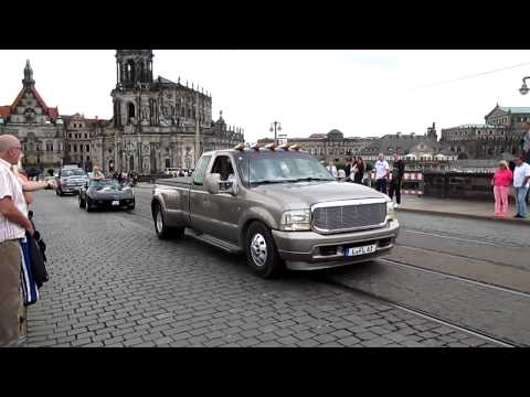 US Car Convention Ausfahrt Durch die Stadt/City Drive-Through Dresden 14.07.14