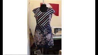 Шифоновое платье из купонной ткани