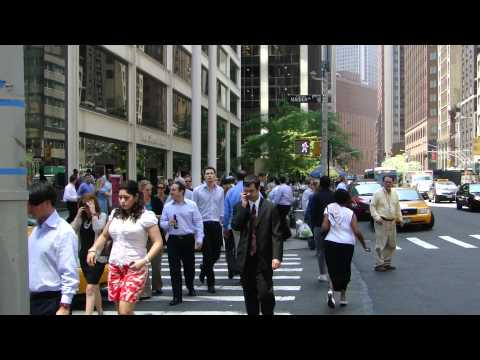 A crowd of people in  New York - Footage