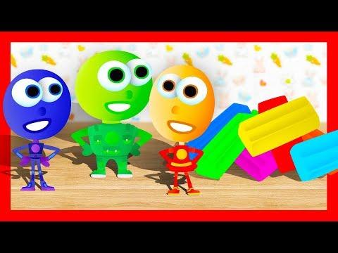 Разноцветный ПЛАСТИЛИН. Учимся лепить пластилиновые Фиксики - Обучающее видео