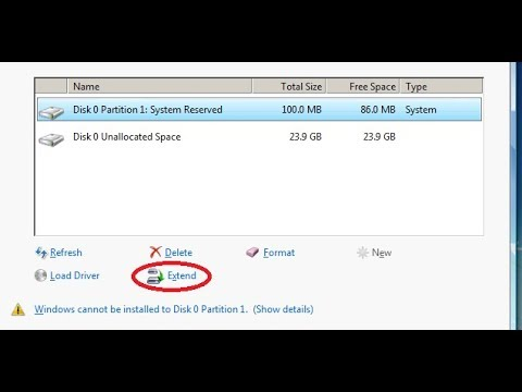 How To Utilize Unallocated Space During Installing Windows 7,8,10