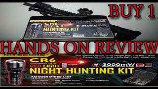 видео Фонарь Nitecore CG6 HUNTING KIT (440 люмен)