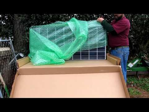 Kyocera KD140GXLFBS 140W 12V Solar Panel  Unboxing My New Solar Panel By VIARLOCITY