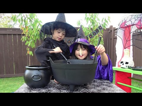 魔女の料理 スープ  脳みそグミ?? おゆうぎ こうくんねみちゃん Witch's cuisine Preted play cooking