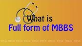 Mbbs Full Form Pronunciation