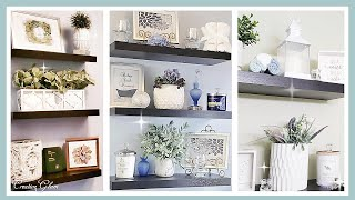 NEW!! Floating Wall Shelves Decor Ideas || 3 Bathroom Looks || Decorate The Bathroom With Me