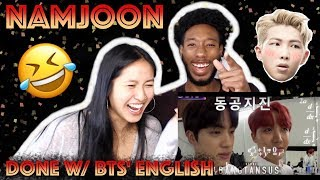 BLASIAN COUPLE REACTS TO NAMJOON BEING DONE WITH BTS