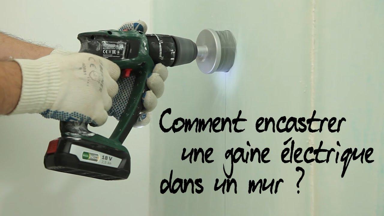 Comment encastrer une gaine lectrique youtube - Comment tirer un cable electrique dans une gaine ...