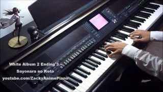 White Album 2 Ending 3 - Sayonara no Koto - Piano Transcription