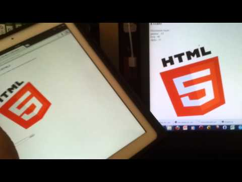 Html5 orientation and websockets