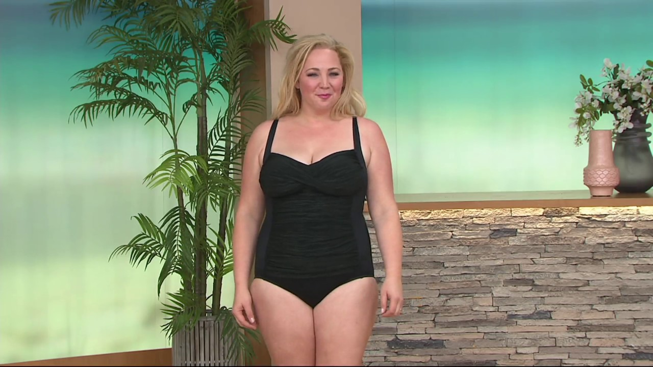 90d4abf016d DreamShaper by Miraclesuit Averi Sweetheart Swimsuit on QVC - YouTube