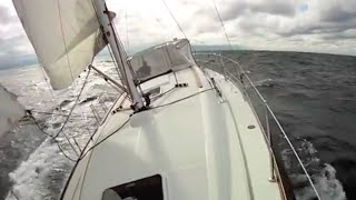 Wild Exciting 15 knot Speed Sailing in a performance cruiser.
